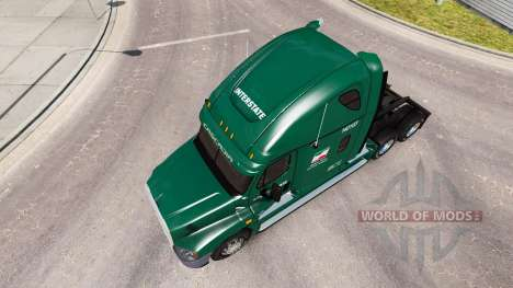 Skin for INTERSTATE truck Freightliner Cascadia for American Truck Simulator
