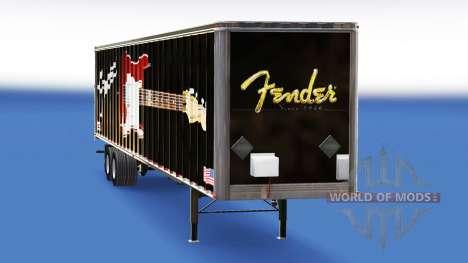 Skin Fender Guitars on the trailer for American Truck Simulator