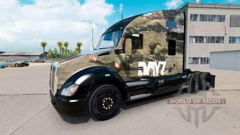 Skin DayZ on a Kenworth tractor for American Truck Simulator