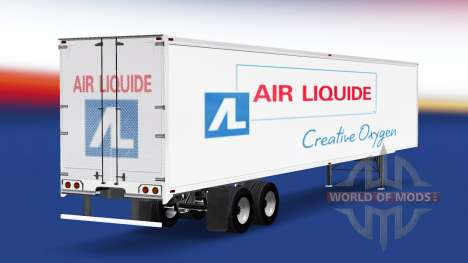 Skin Air Liquide on the trailer for American Truck Simulator