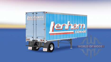 Skin Lenham on the trailer for American Truck Simulator