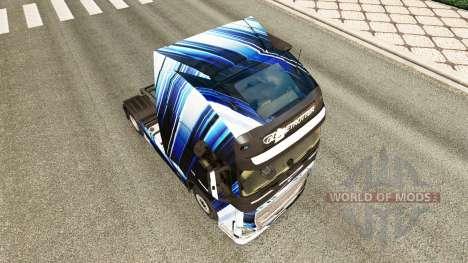 Blue Stripes skin for Volvo truck for Euro Truck Simulator 2