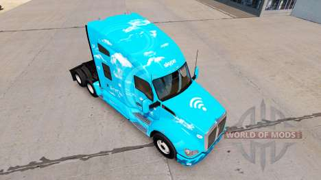 Skin Skype on a Kenworth tractor for American Truck Simulator