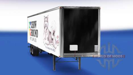 Skin Chow Hound on the trailer for American Truck Simulator