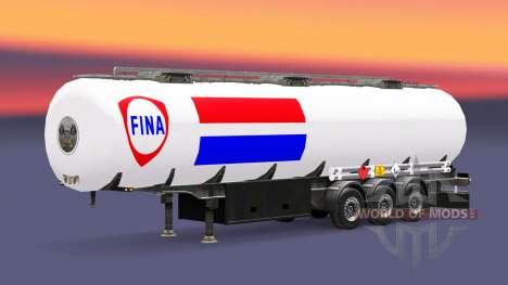 Skin Fina fuel semi-trailer for Euro Truck Simulator 2