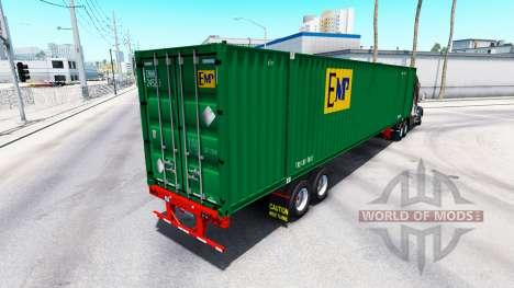 Semitrailer container EMP for American Truck Simulator