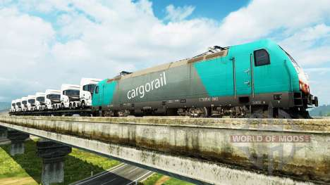 Freight trains for Euro Truck Simulator 2