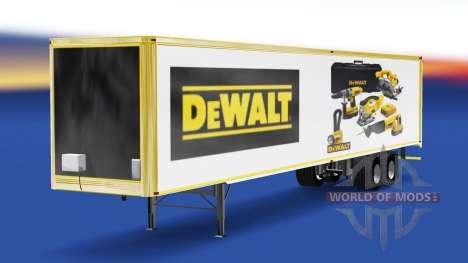 Skin DeWALT in the trailer for American Truck Simulator