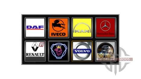 Logos of actual companies for Euro Truck Simulator 2