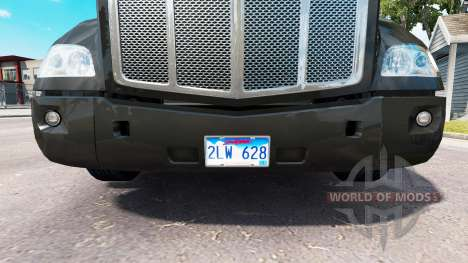 A collection of license plates for American Truck Simulator