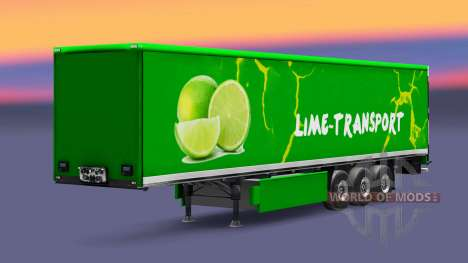 Skin Grun Lime on semi for Euro Truck Simulator 2
