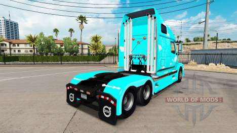 Blue fire skin for Volvo VNL 670 truck for American Truck Simulator