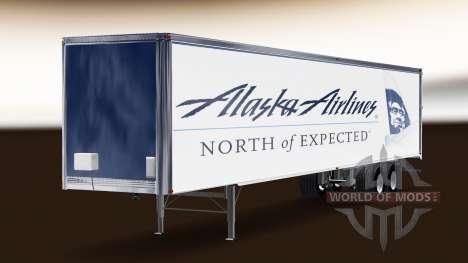 Skin Alaska Airlines on the trailer for American Truck Simulator