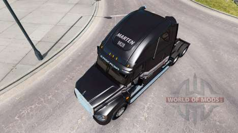 The skin of the Marten on the truck Freightliner for American Truck Simulator