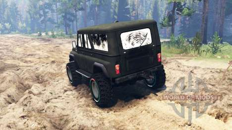 UAZ-3159 bars for Spin Tires