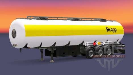 Skin Agip fuel semi-trailer for Euro Truck Simulator 2