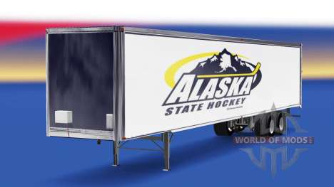 Skin Alaska State Hockey on the trailer for American Truck Simulator