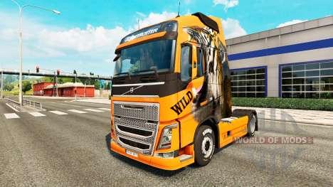 Wild skin for Volvo truck for Euro Truck Simulator 2