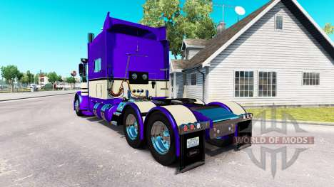 Metallic Purple skin for the truck Peterbilt 389 for American Truck Simulator