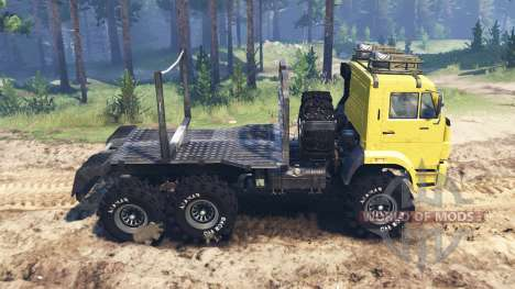KamAZ-65222 for Spin Tires