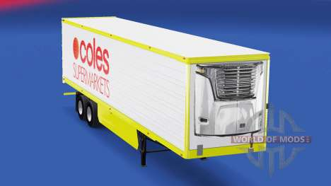Skin Coles Supermarkets on the trailer for American Truck Simulator
