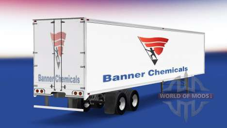 Skin Banner Chemicals on the trailer for American Truck Simulator