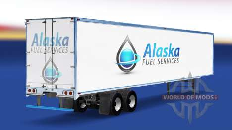 Skin Alaska Fuel Services on the trailer for American Truck Simulator