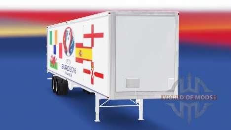 Skin Euro 2016 v3.0 on the semi-trailer for American Truck Simulator