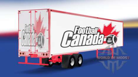 Skin Football Canada on the trailer for American Truck Simulator