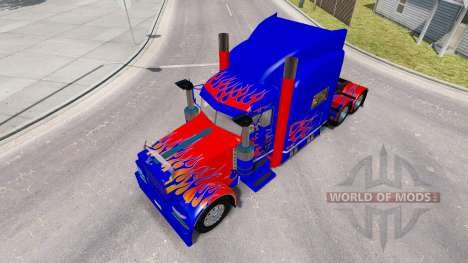 Skin Optimus Prime v2.0 tractor Peterbilt 389 for American Truck Simulator