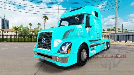 Blue fire skin for Volvo VNL 670 truck for American Truck Simulator