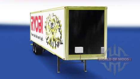 Skin Ryobi on the trailer for American Truck Simulator