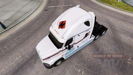 Skin on METROPOLITAN truck Freightliner Cascadia for American Truck Simulator