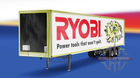 Skin Ryobi on the trailer for American Truck Simulator