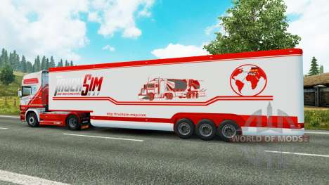 The semitrailer-the refrigerator TruckSim for Euro Truck Simulator 2