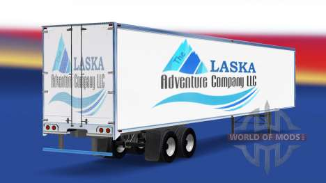 Skin The Alaska Adventure Company on the trailer for American Truck Simulator
