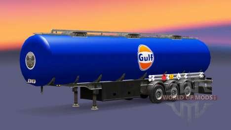 Skin Gulf fuel semi-trailer for Euro Truck Simulator 2