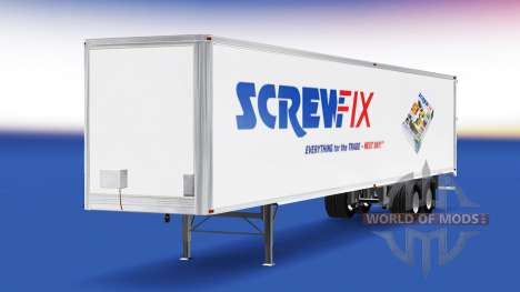 Skin Screwfix on the trailer for American Truck Simulator