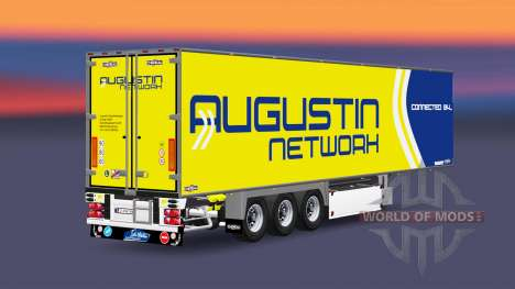 Semi-trailer refrigerator Chereau Augustin Netwo for Euro Truck Simulator 2