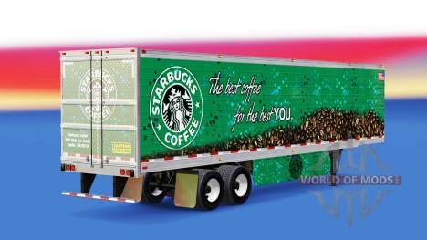 Skin Starbucks Coffee on the trailer for American Truck Simulator