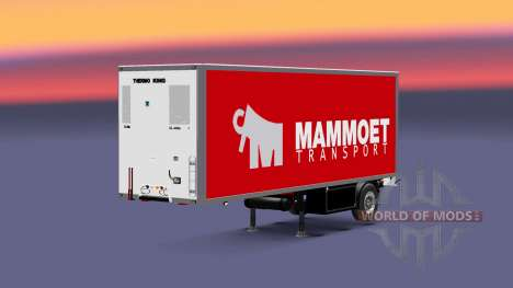 Semitrailer refrigerator Krone Mammoet for Euro Truck Simulator 2