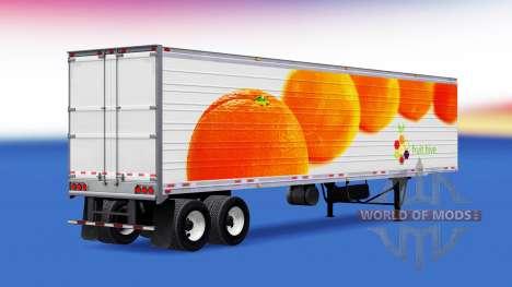 Skin Oranges on the trailer for American Truck Simulator
