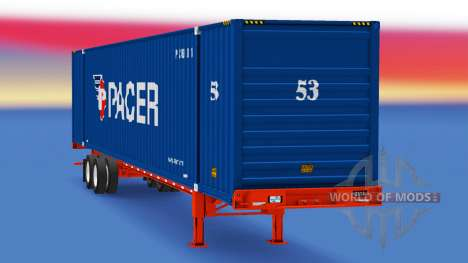 Semitrailer container Pacer for American Truck Simulator