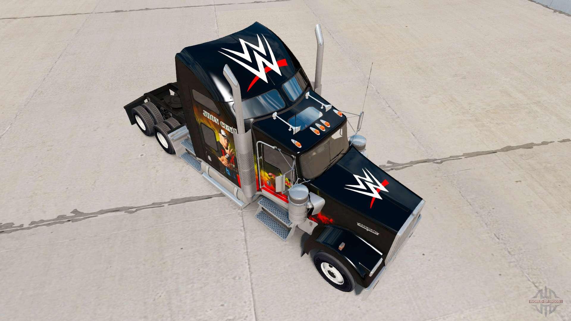 Skin WWE on the truck Kenworth W900 for American Truck Simulator