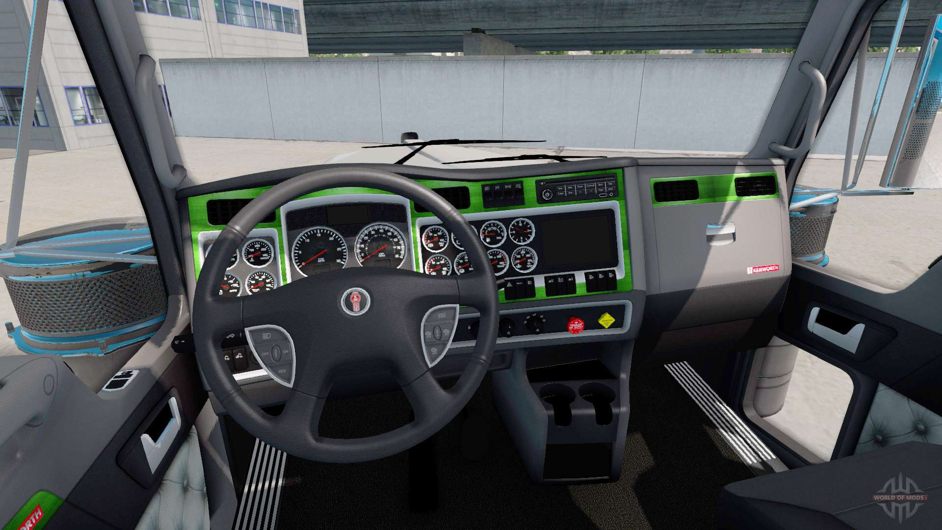Interior Green Gray For Kenworth W900