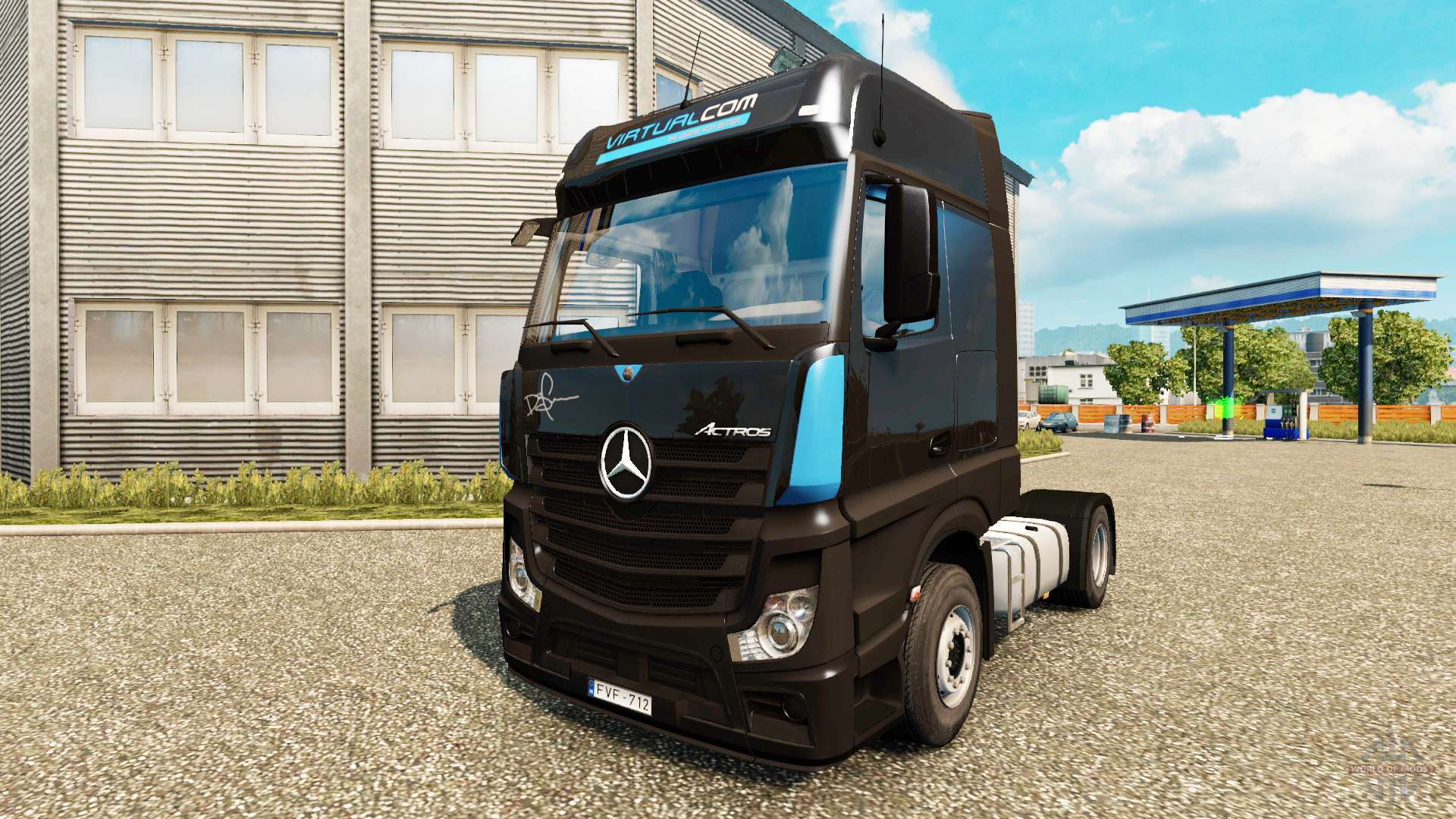 mercedes benz actros mp4 for euro truck simulator 2. Black Bedroom Furniture Sets. Home Design Ideas