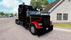 Skin Black & Red for the truck Peterbilt 389