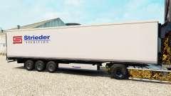 Skin Strieder on the semitrailer-the refrigerato