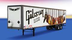 Skin Gibson Guitars on the trailer