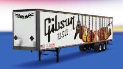 Skin Gibson Guitars on the trailer